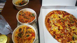 ピザとパスタのセット